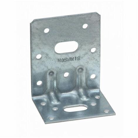 Équerre mixte renforcée galva SIMPSON - A65xB75xC48x1,5mm - E5/1,5/1122/11