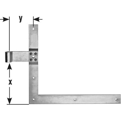 Equerre penture D16 350x400 mm chromé brillant