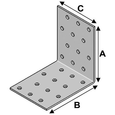 Equerre perforée (H x L x l x ép) 60 x 60 x 40 x 2,0 mm - AL-EP06060420 - Alsafix - -