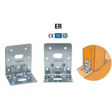Équerre renforcée ER charpente ossature bois SIMPSON (75x80x50 ép. 2 mm)