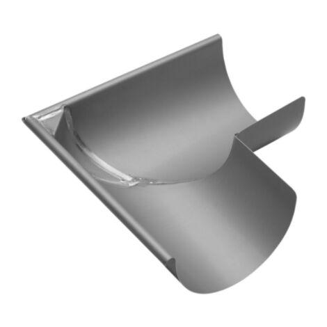 """main image of """"Equerre soudée demi ronde exterieure, en zinc, 33"""""""