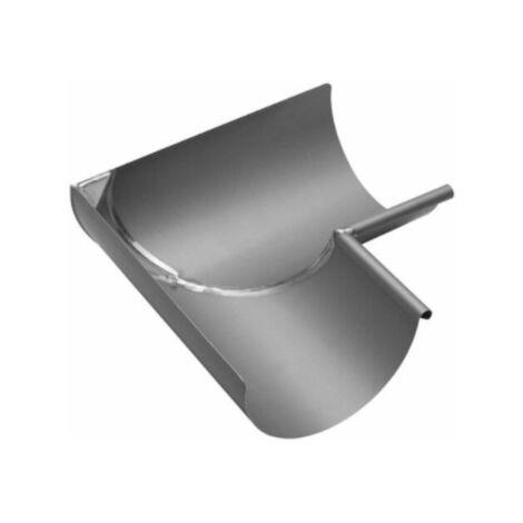 Equerre soudée demi ronde intérieur, en zinc, diamètre 33