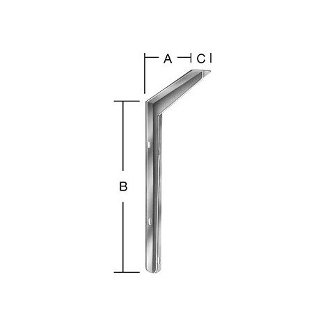 Equerre T-Profil 200 x 250 mm Nr. 156200ZF