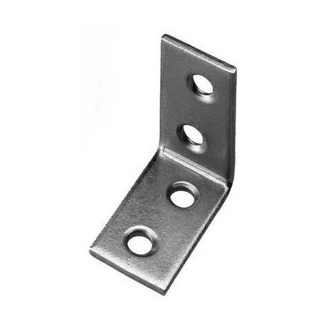 Equerre Type 3155 TOOLCRAFT 889632 (L x l) 30 mm x 30 mm En acier galvanisé, clair C60825