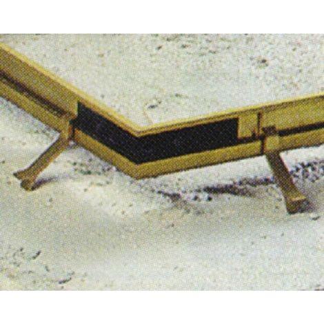 Équerres d'angle profils de cadre pour tapis brosse, boîte de 20 pièces
