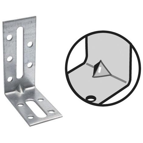 Equerres de fixation avec renfort EFIXR (30 x 70 x 55 mm - 2,0 mm)