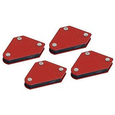 Equerres magnétiques lot de 4 mini aimants Positionneurs de soudage 45° 90°135°