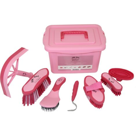 Equestrian Grooming kit & carry box PINK