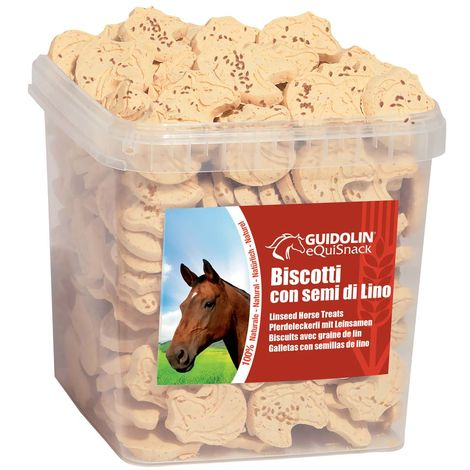 Equi Horse Snack Cookies with Linseed for Digestion and Gloss of 2.5 kg Convenience and Foldable Size