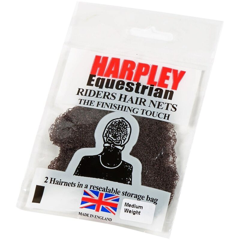 Image of Womens/Ladies Harpley Hair Net (Pack of 2) (One Size) (Black) - Equi-net
