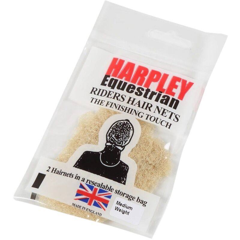 Image of Womens/Ladies Harpley Hair Net (Pack of 2) (One Size) (Blonde) - Equi-net