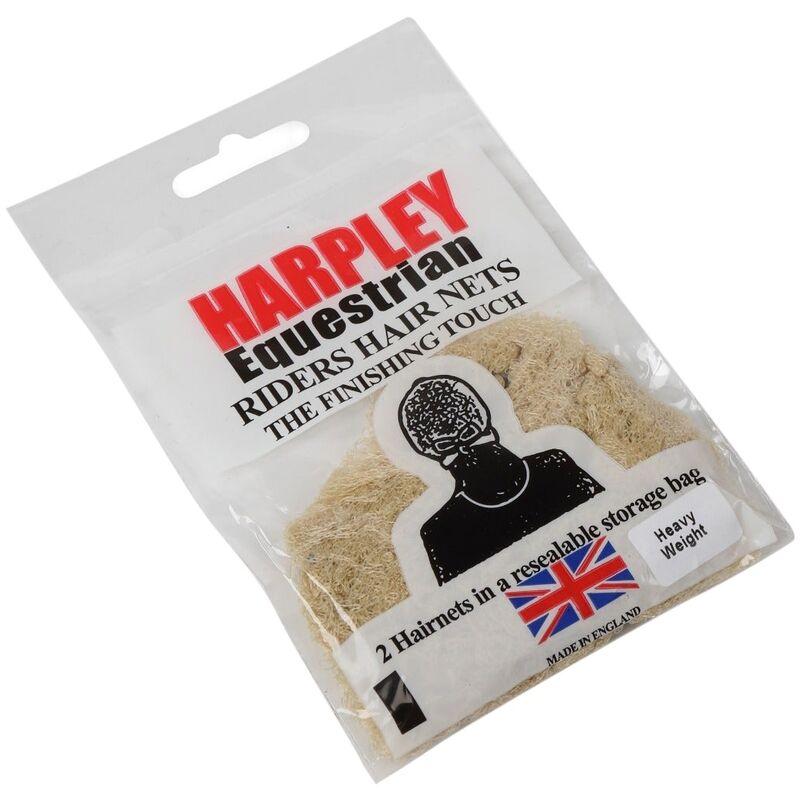 Image of Womens/Ladies Harpley Hair Net (Pack of 2) (One Size) (Light Brown) - Equi-net