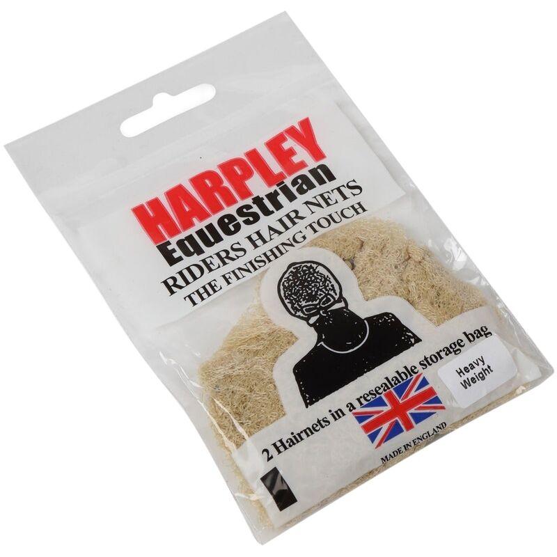 Image of Womens/Ladies Harpley Heavyweight Hair Net (Pack of 2) (One Size) (Light Brown) - Equi-net