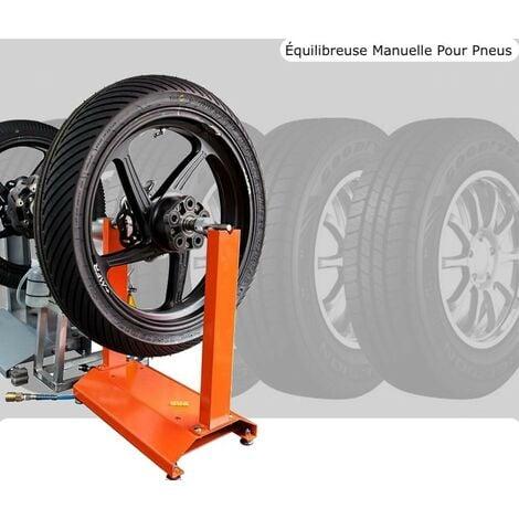 Équilibreuse manuelle pour pneus et jantes motos - Rouge