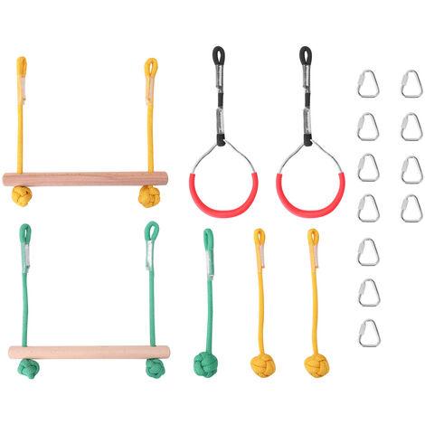 Equipement De Formation D'Equilibre De Sports De Plein Air, Combinaison De Sport D'Escalade Pour Enfants, Avec Echelle De Corde