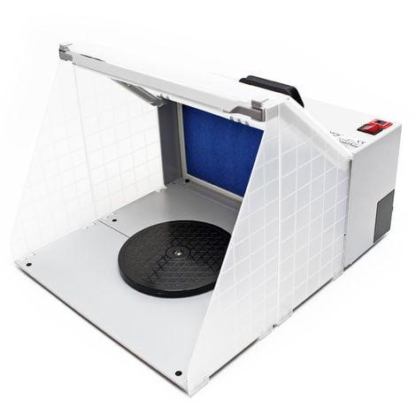 Equipo de aspiración para aerografía 4m³/min Filtro de neblina Iluminación LED Accesorios aerógrafo