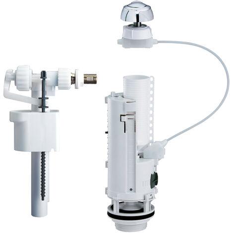 equipo de cisterna completo con pulsador de cable, súper silencioso, ahorro de agua 3/6 L