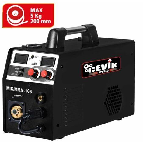 Equipo de soldadura Cevik Promig 165 Inverter Multiproceso Negro