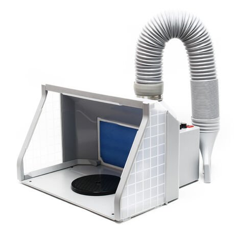 """main image of """"Equipo extractor aerografía 9m³/min Iluminación LED Ventilador doble Regulable Cabina de pintura"""""""