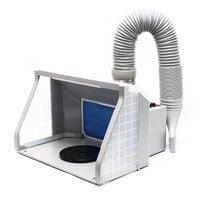Equipo extractor aerografía 9m³/min Iluminación LED Ventilador doble Regulable Cabina de pintura