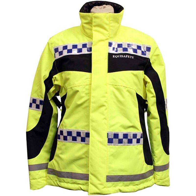 Image of Equisafety Polite Inverno Reversible Jacket (Large) (Yellow)