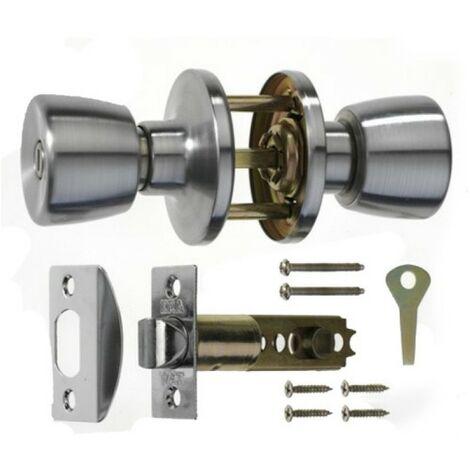 ERA 168-52 Privacy Door Knob Set Chrome