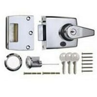 ERA 193-37-2 Double Locking Nightlatch 60mm Polished Chrome Body and Cylinder
