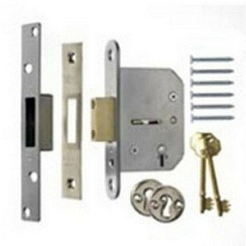 Horizontal mortice sash lock suitable for replacement of the Union 2077 3 lever