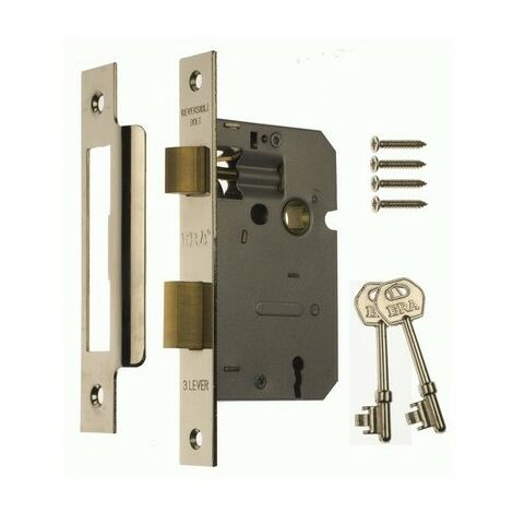 Yale PM246 Internal 2 Lever Mortice Sash Lock 67mm 2.5in Polished Chrome