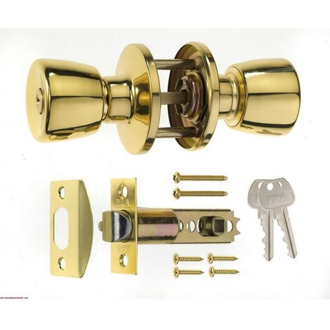 ERA16632 - ERA 166-32 Entrance Door Knob Set Brass