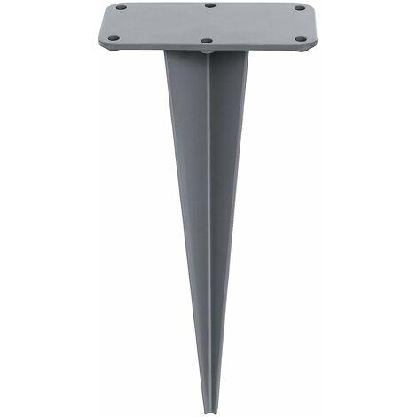 Erdanker für Seitenmarkise, Erdnagel für Bodenmontage im Garten, Befestigung Doppel-Seitenmarkise ohne Beton, Bodenhülse aus Eisen GSA006 - Grey