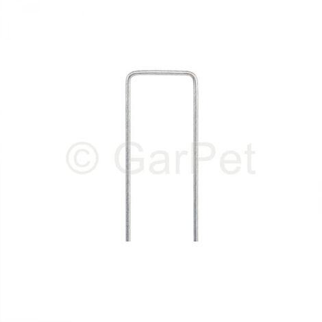 "main image of ""Erdnagel U-Form 15/3cm Verzinkt Stahl Boden Erd Anker Unkraut Garten Vlies Folie"""