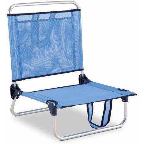 Eredu 835/TXB Chaise de Plage avec Pochettes/Poignées Aluminium 54 x 50 x 63 cm