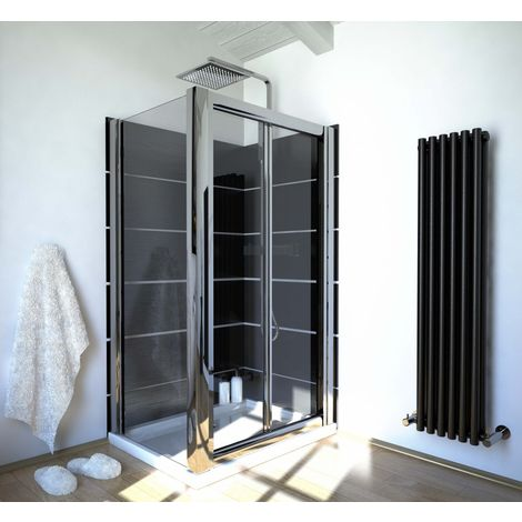 Ergonomic Designs 1200 X 800 Bi Fold Glass Shower Screen Enclosure