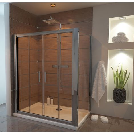 Ergonomic Designs 1400 X 800 Double Sliding Shower Door Enclosure