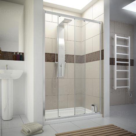 Ergonomic Designs 1600mm Sliding Door 6mm Glass Shower Screen