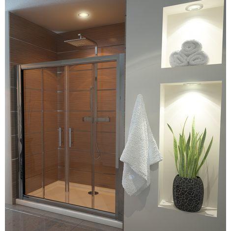 Ergonomic Designs 1700mm Double Sliding Door 6mm Glass Shower Screen