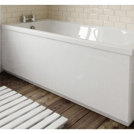 Ergonomic Designs Bathroom White Bath Side Panel 1500mm