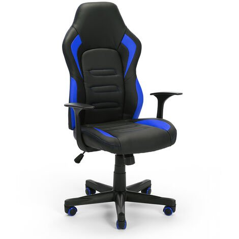 Ergonomischer Bürostuhl aus Kunstleder Aragon Sky