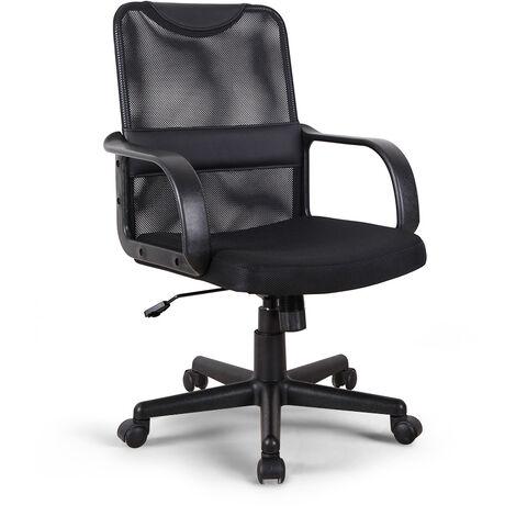 Ergonomischer Bürostuhl-Sessel aus Kunstleder und Atmungsaktivem Stoff Losail