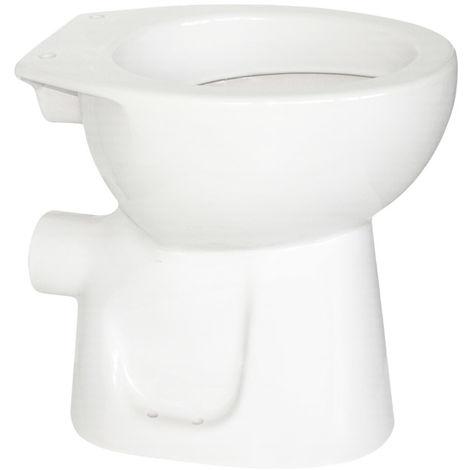Erhöhtes Stand-Tiefspül WC + 6cm (Sitzhöhe: 45 cm), weiß