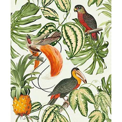 """Erismann 6302-07"""" Paradiso Collection Non-Woven Wallpaper, Multi-Colour, 10.05 x 0.53 m"""