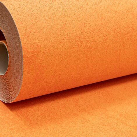 Erismann Bold Plain Warm Orange Textured Thick Paste the Wall Vinyl Wallpaper