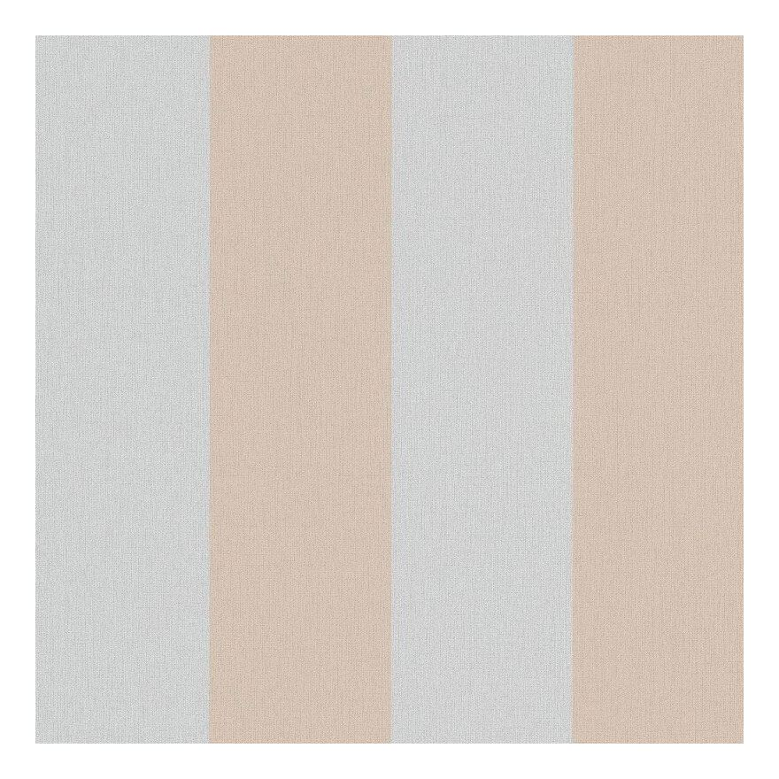 Image of Grey Beige Stripe Wallpaper Pearlised Shine Paste Wall Vinyl Erismann Cassiopeia