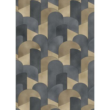Erismann Elle Decor Arches Gold Black Metallic Glitter Vinyl Wallpaper