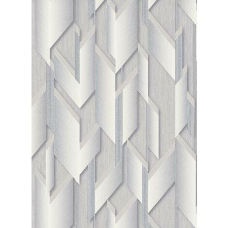 Erismann Geometric Silver Glitter Grey Pattern Vinyl Wallpaper