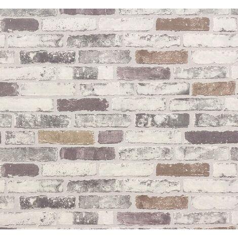 ERISMANN Grey, New Luxury BRIX Brick Wall Effect Embossed Textured Vinyl Wallpaper 6703-10