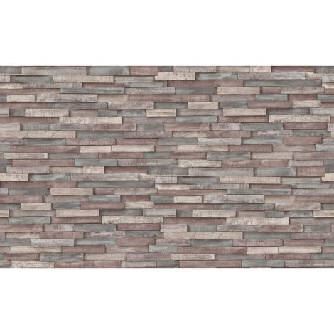 Erismann Imitations Brick Wallpaper Brown|Cream 6301-10 Full Roll