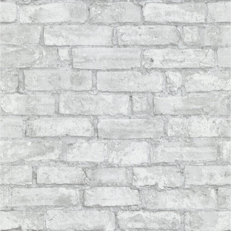 Erismann Imitations Brick Wallpaper Grey/Silver 6318-10 Full Roll