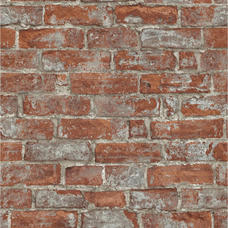 Erismann Imitations Brick Wallpaper Red 6318-06 Full Roll